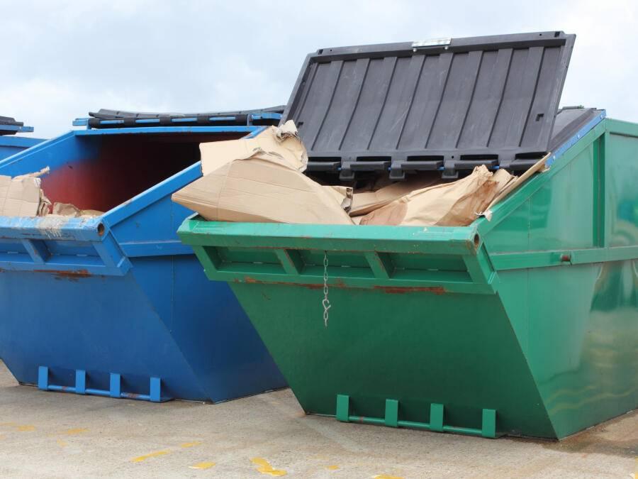 Industrial waste skips