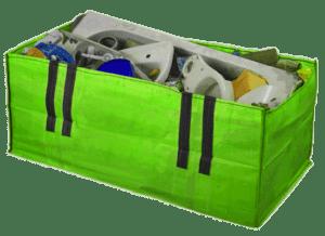 Skip bag filled