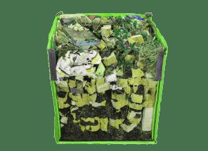 Midi Skip bag cross section waste