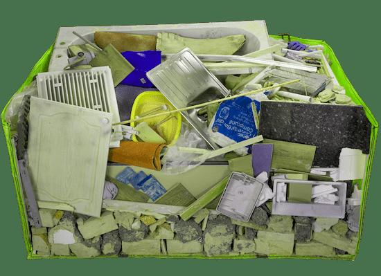 Mega skip bag cross section waste